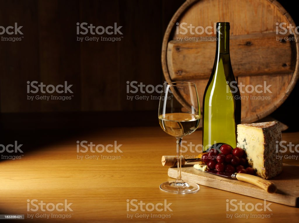 Entertaining with Cheese and Wine stock photo