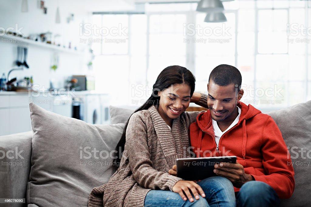 Entertainment at their fingertips stock photo