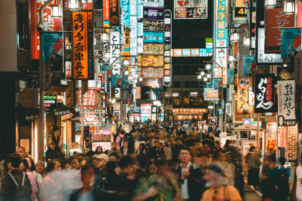 Entertainment night life district at Kabukicho in Shinjuku Tokyo. Japan stock photo