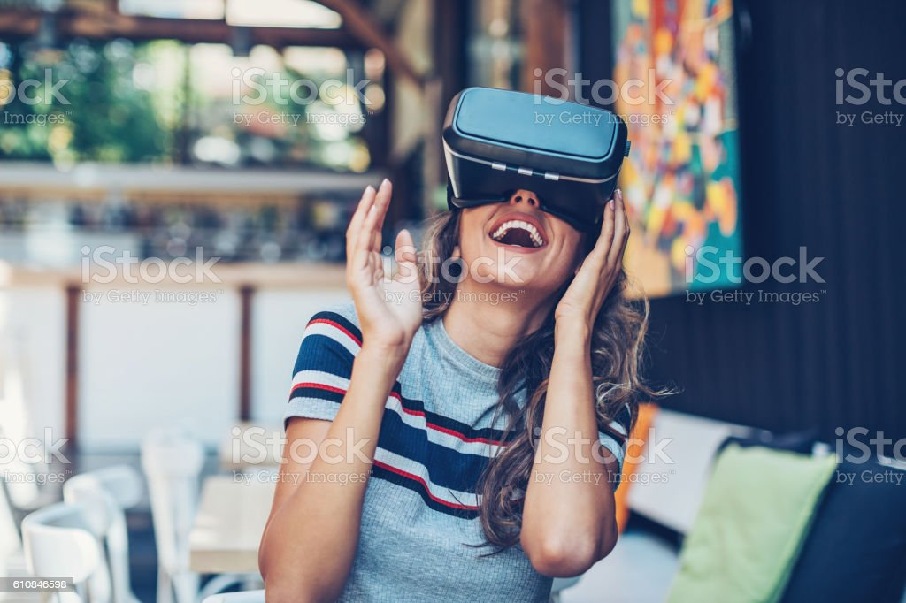 Entertainment of the future stock photo