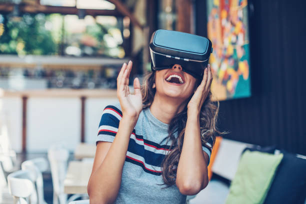 entertainment of the future - augmented reality stock photos and pictures
