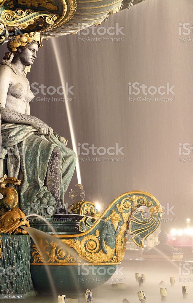 Enthroned Fountain stock photo
