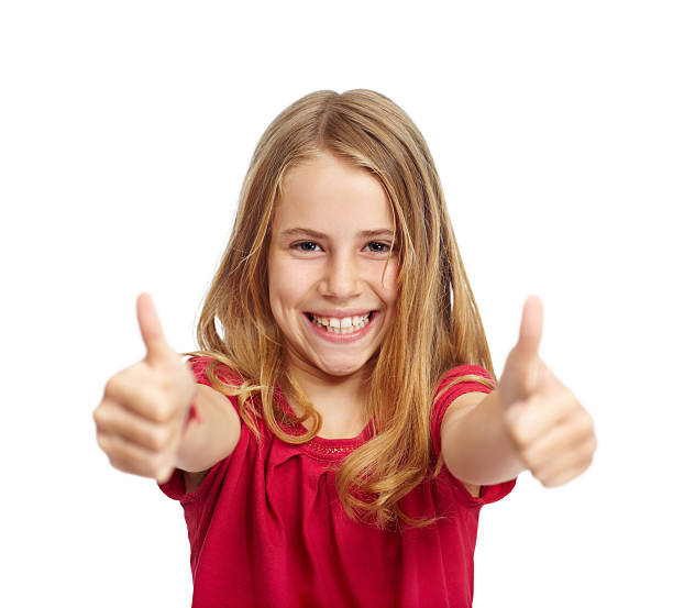 Enthusiastic approval from this precocious princess! stock photo