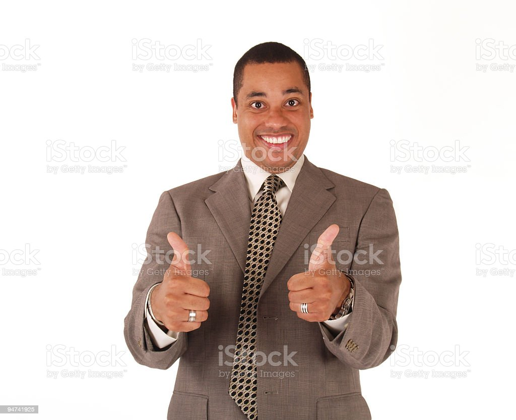 Enthusiastic Business Man royalty-free stock photo