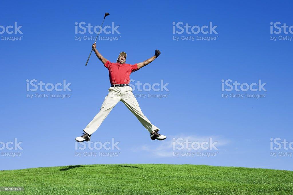 Enthusiastic Golfer stock photo