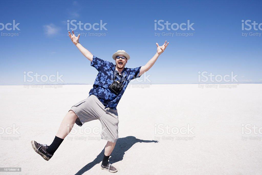 Enthusiastic Tourist royalty-free stock photo