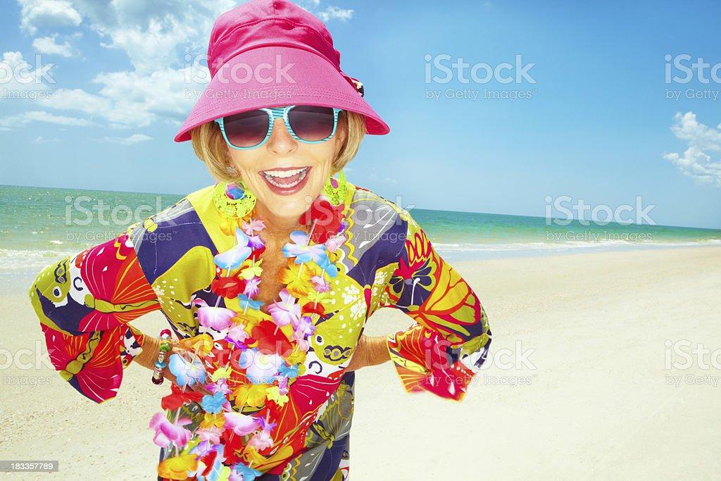 Enthusiastic woman enjoying life royalty-free stock photo