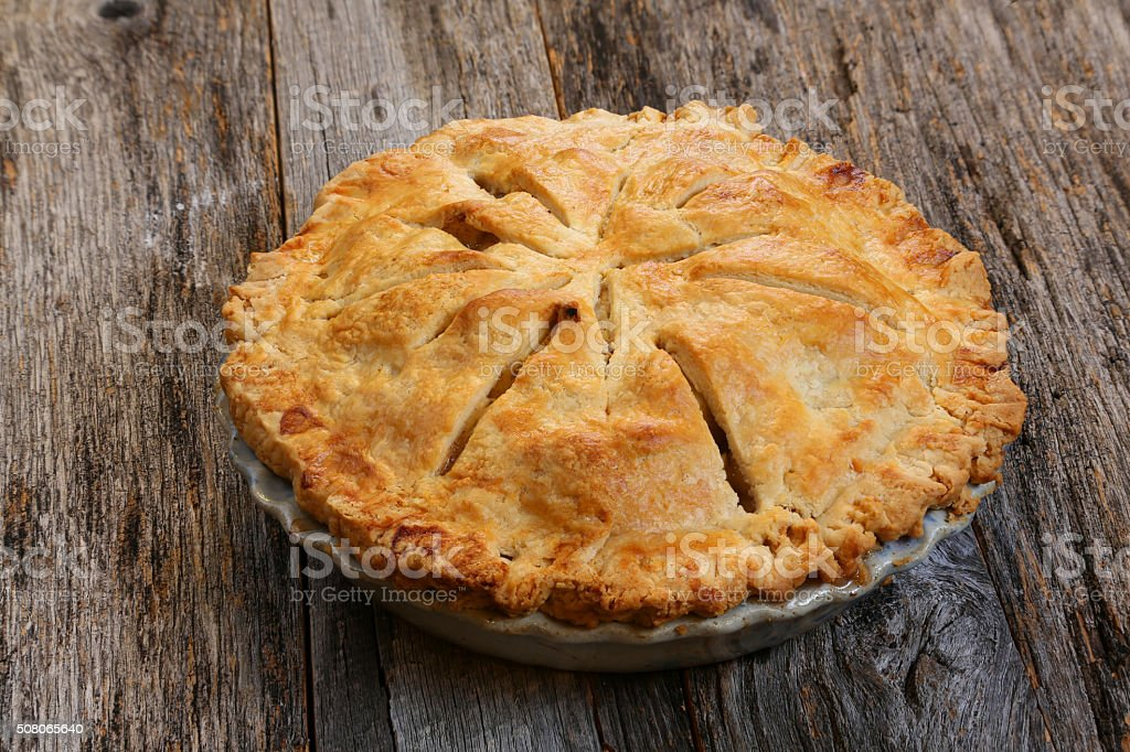 Entire Apple Pie stock photo