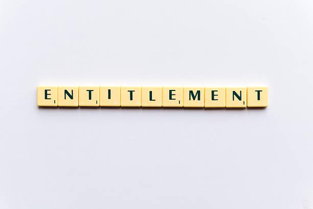 entitlement stock photo