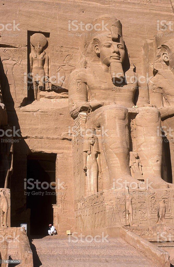 Entrance Abu Simbel stock photo