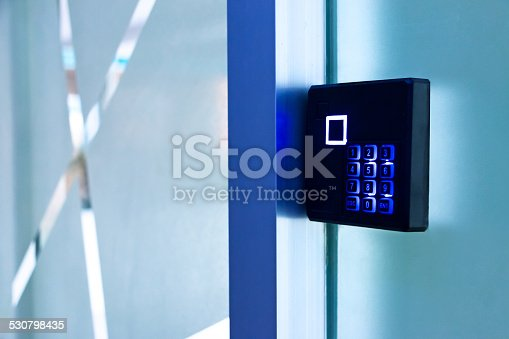 entrance access control device, as a security device to verify the identification of people from password or fingerprint.