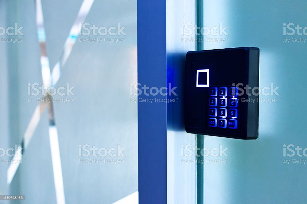 entrance access control device stock photo