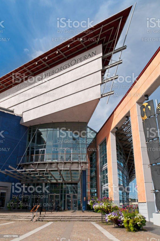 Entrance at Opera of Gothenburg stock photo