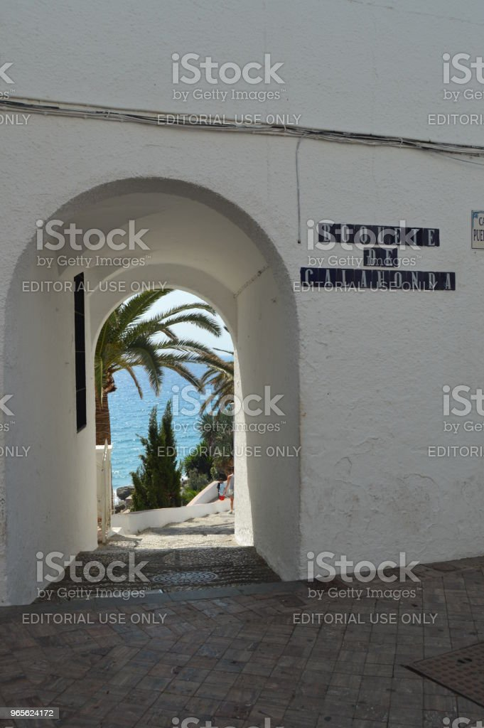 Entrance By The Boquete Of Calahonda To The Beach In Nerja. stock photo