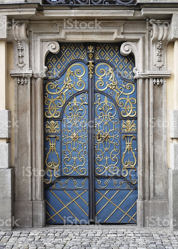 Entrance door to University building, Wroclaw, Poland. royalty-free stock photo