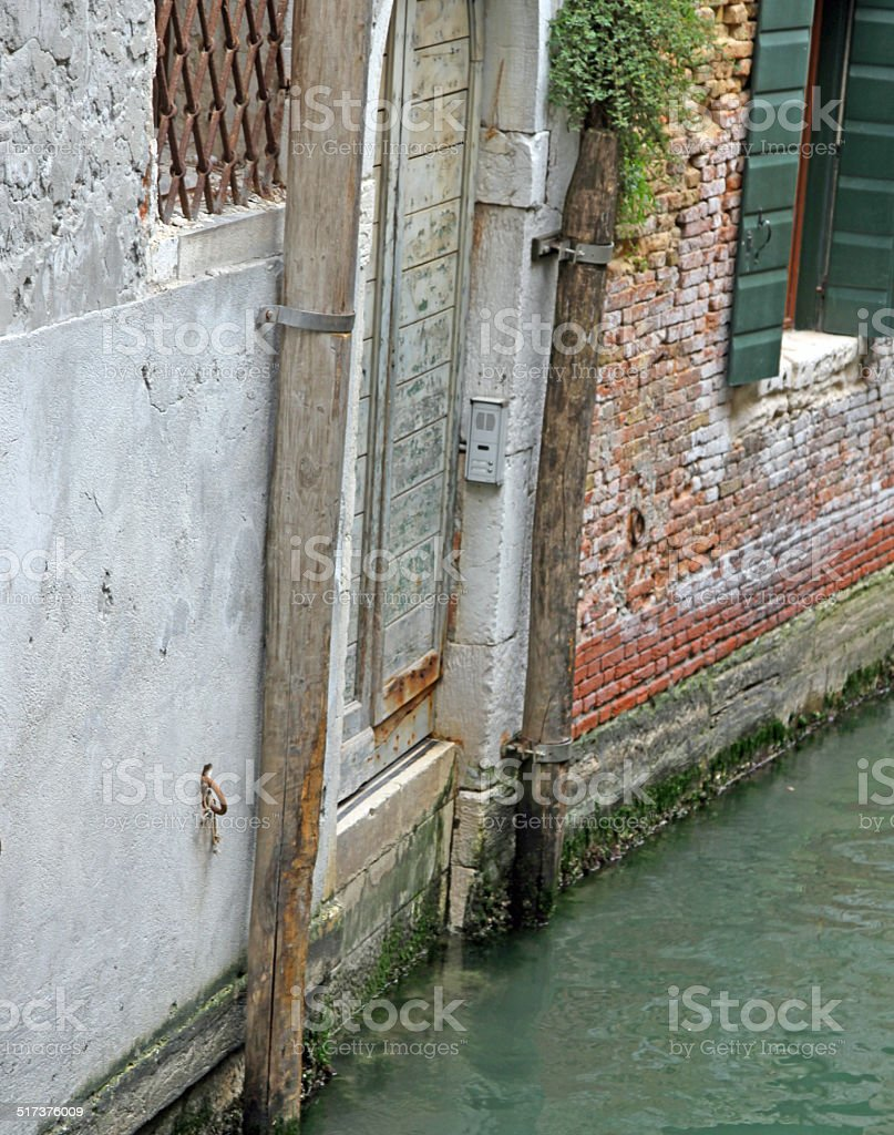 entrance door with  the intercom House on the Canal stock photo