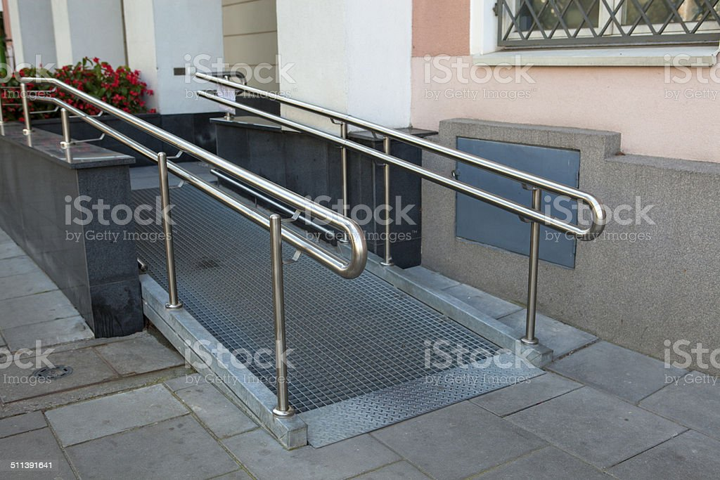Entrance for the disabled stock photo