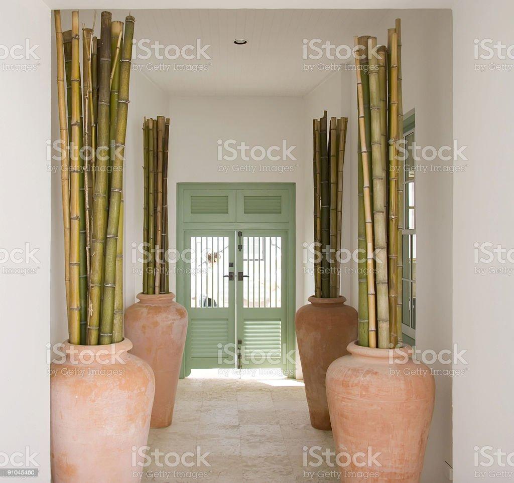 Entrance foyer stock photo