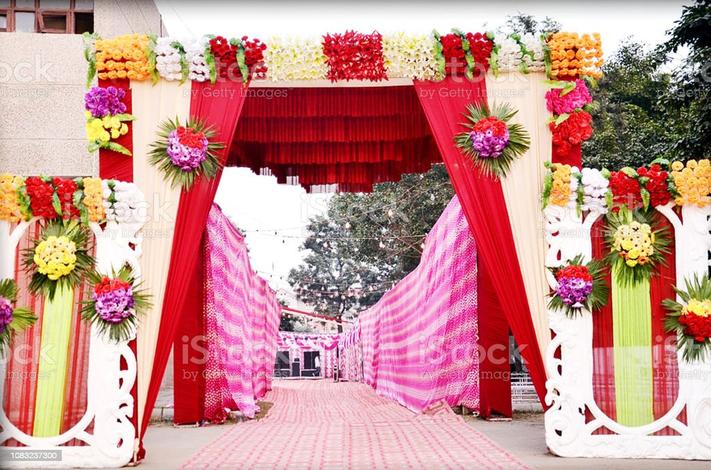 Entrance Gate Decor In Outdoor Party Wedding Stock Photo Download Image Now Istock