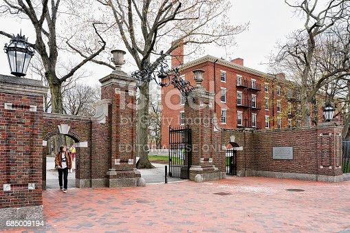 683709204istockphoto Entrance gate in Harvard Yard of Cambridge MA America 685009194