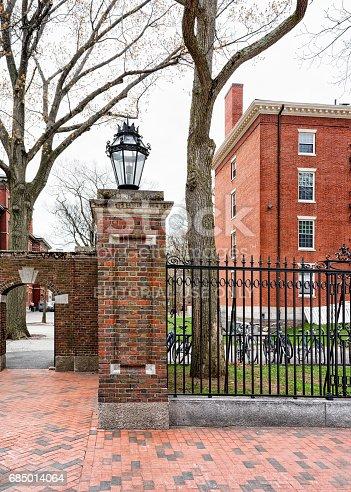 683709204istockphoto Entrance gate into Harvard Yard of Cambridge MA 685014064