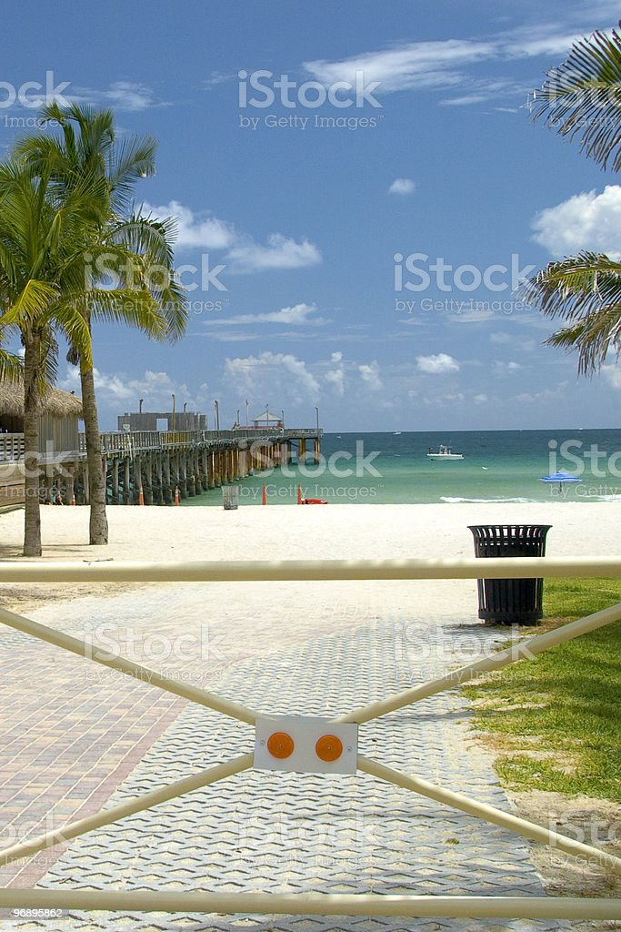 Entrance gate of a beach royalty-free stock photo