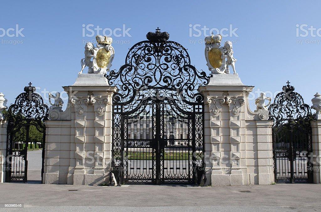 Eingang des Belvedere Lizenzfreies stock-foto