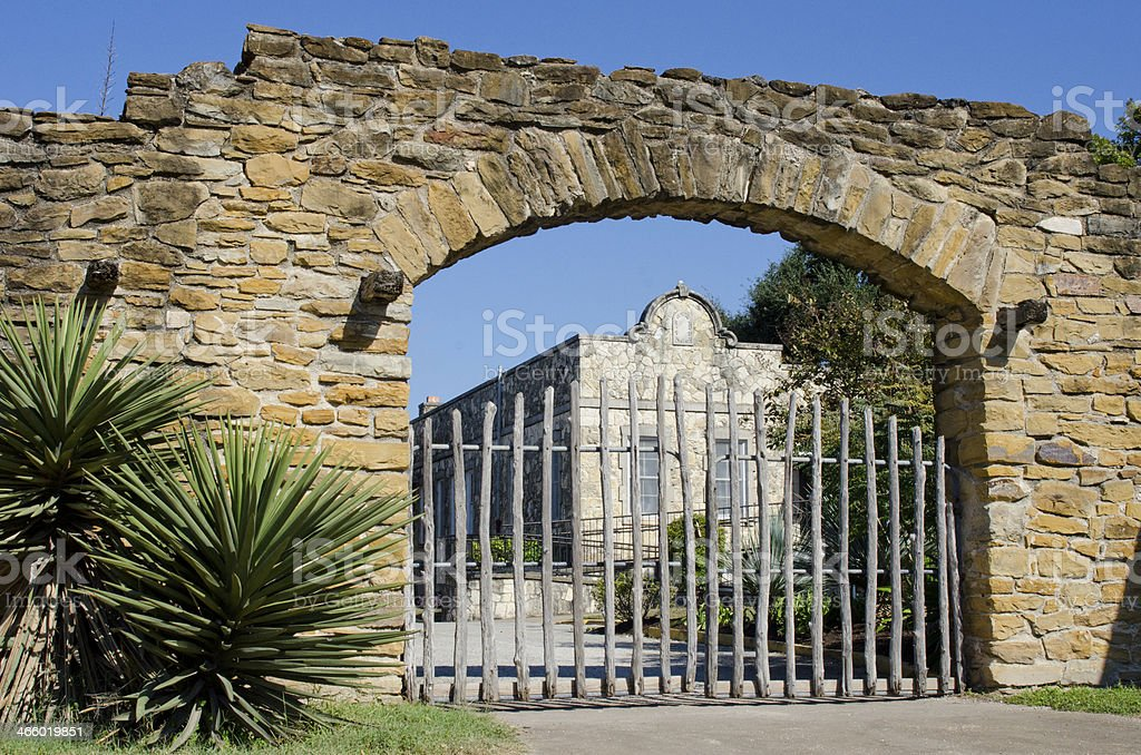 Entrance Gate of Mission San Jose stock photo