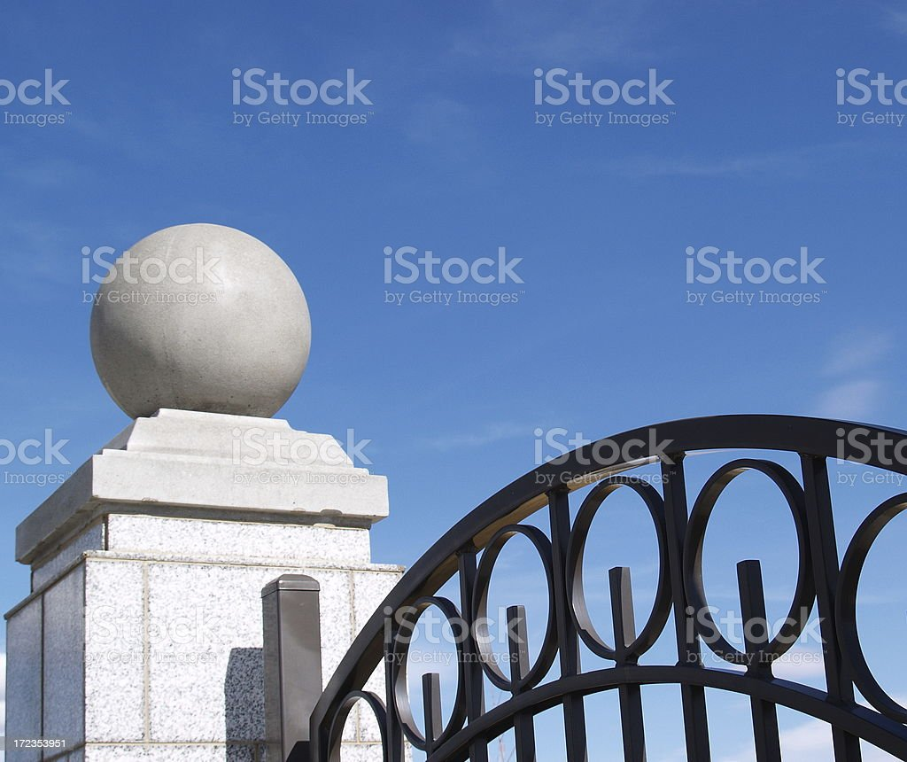 Entrance Gate to Mansion Home royalty-free stock photo