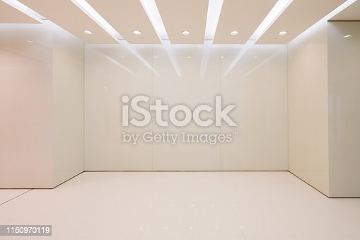 istock Entrance hall and empty floor tile, interior space 1150970119