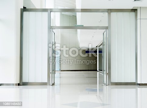 Entrance hall in modern office building.