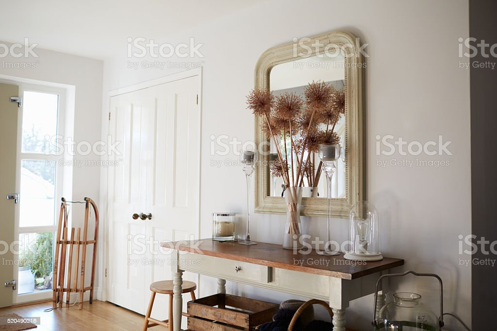 Entrance Hall Of Contemporary Family Home stock photo