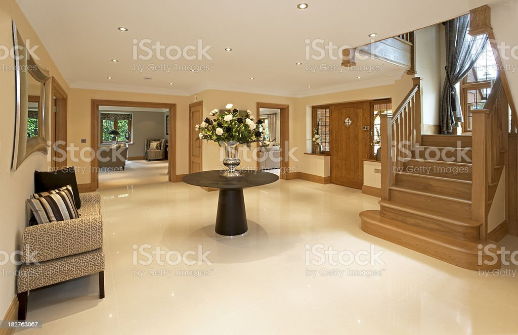 entrance hallway in a luxury new home royalty-free stock photo