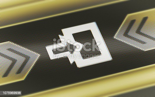 istock Entrance icon on the screen. 1075969938