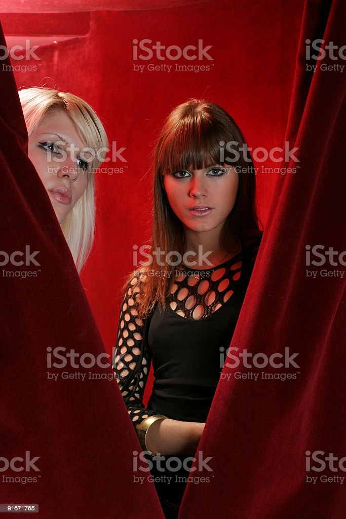Entrance in a night club royalty-free stock photo