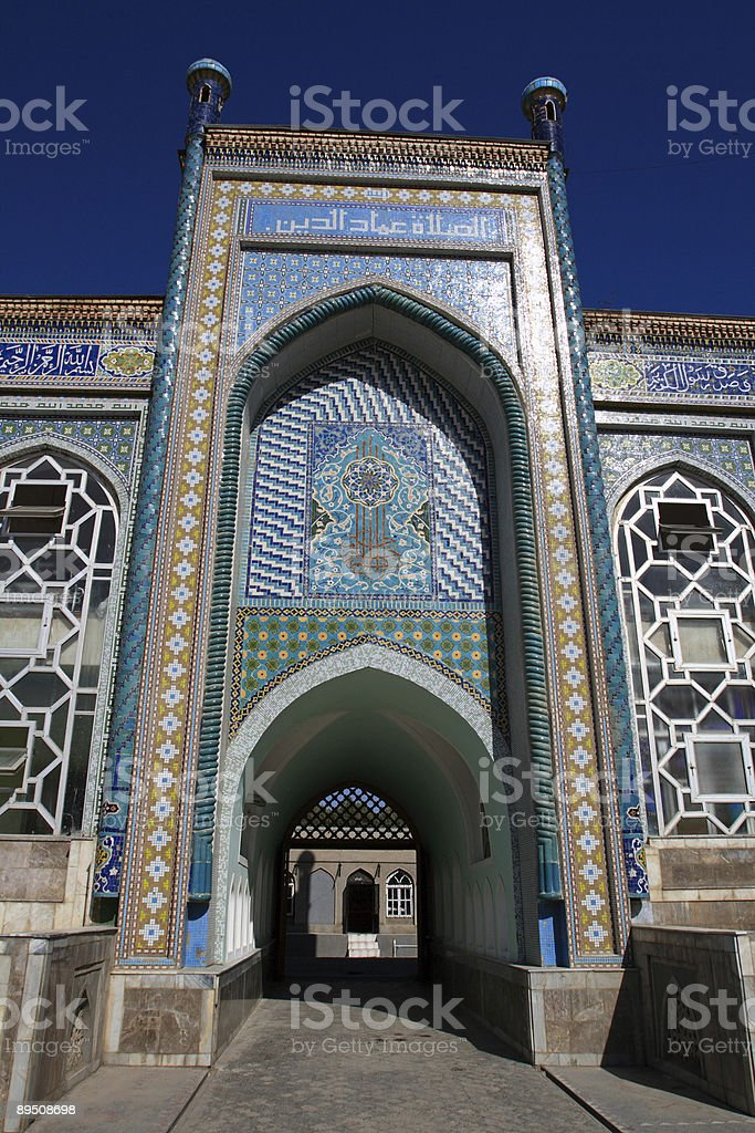 Entrance in mosque royalty-free stock photo