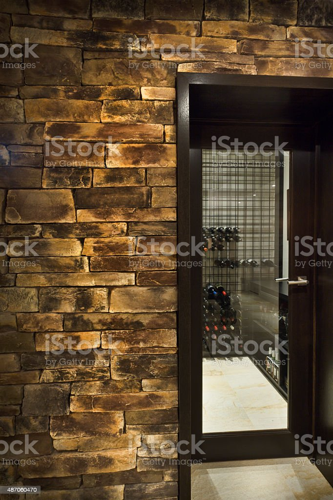 Entrance into a wine cellar stock photo