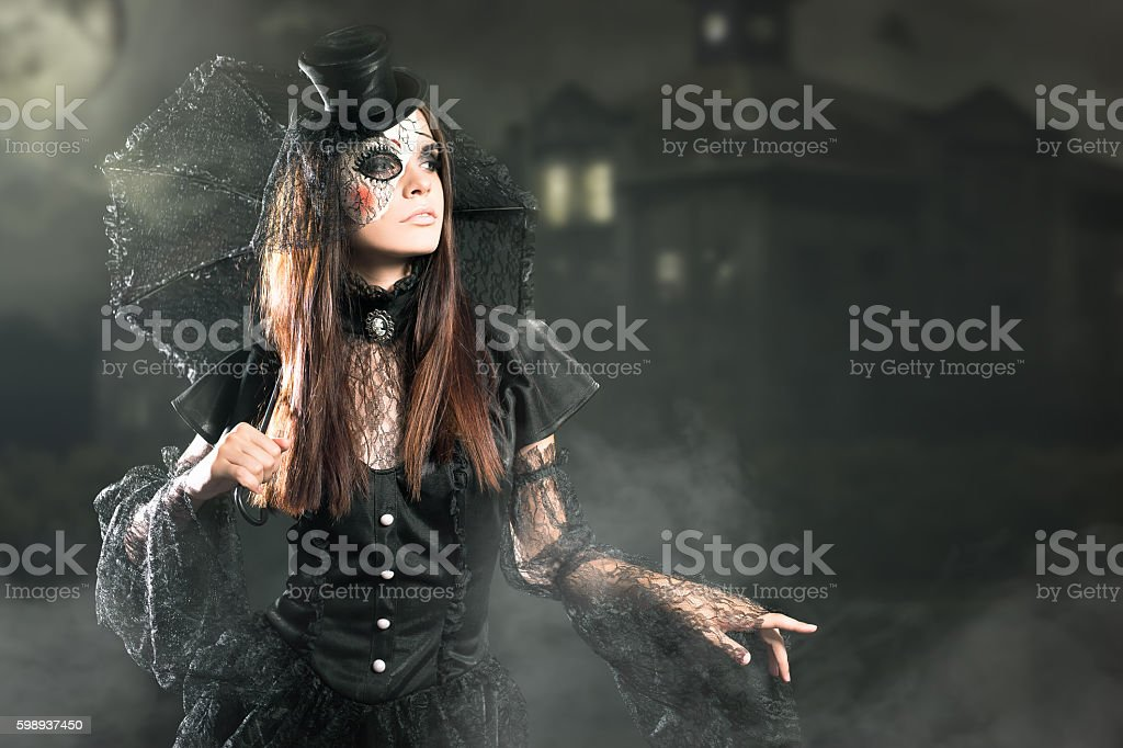 Entrance is limited to nightclub, dress code. Halloween party 2016! stock photo