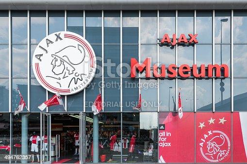 931661614istockphoto Entrance museum of the Dutch football club Ajax 494762357