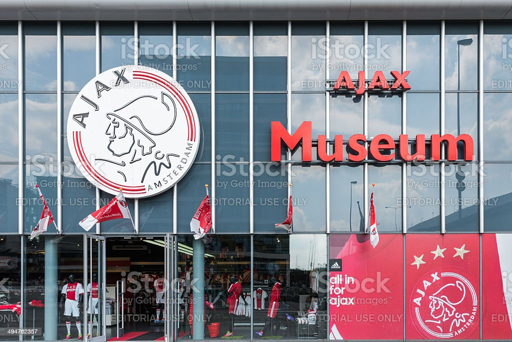 Entrance museum of the Dutch football club Ajax stock photo