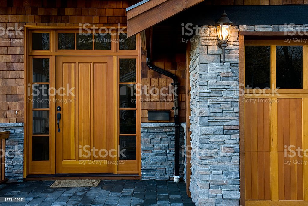 Entrance,  New West Coast Home stock photo