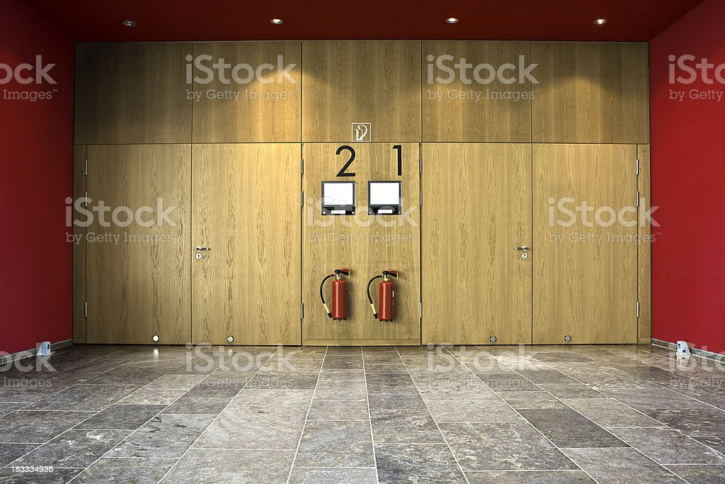 Entrance of a lecture hall at the university stock photo : auditorium doors - pezcame.com