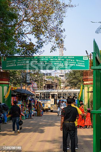 istock Entrance of Acharya Jagadish Chandra Bose in Indian Botanic Garden of Shibpur, Howrah near Kolkata on February 2020 1249296189