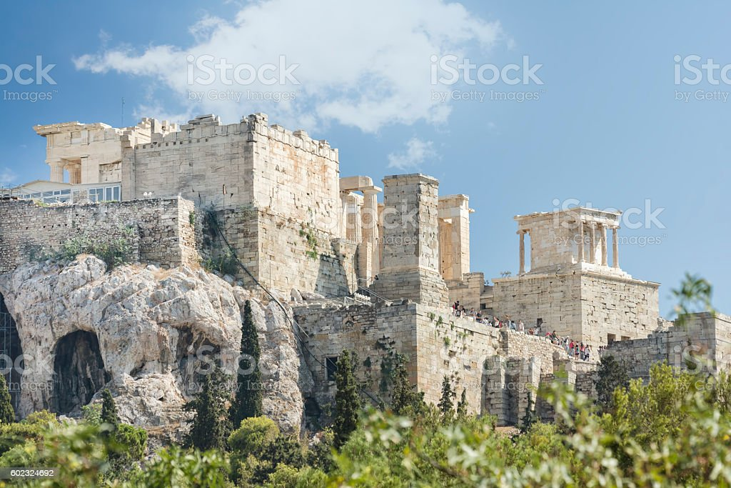 Entrance of Acropolis, Athens, Greece stock photo