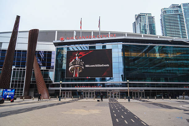Entrance of Air Canada Centre (ACC). Toronto, Canada - February 7, 2016: Entrance of Air Canada Centre (ACC). The 65th NBA All-Star Game will take place at Air Canada Centre on February 14, 2016 all star stock pictures, royalty-free photos & images