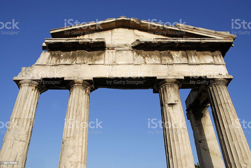 Entrance of Ancient Agora, Athens royalty-free stock photo