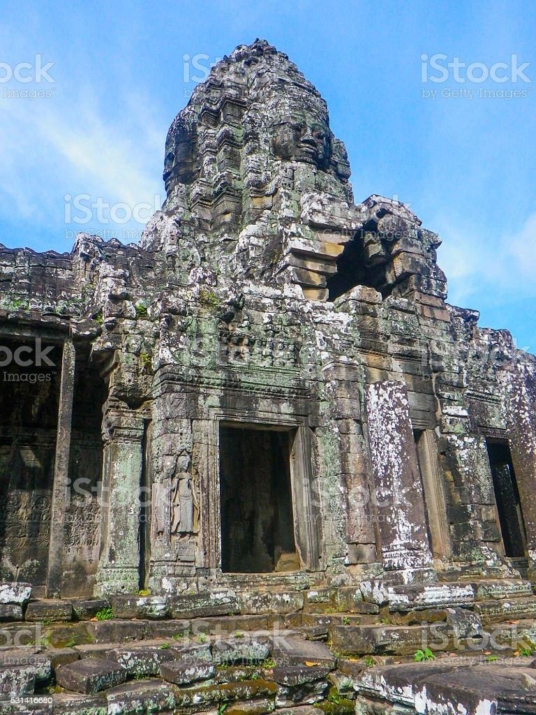 Entrance of Bayon Temple, Angkor Thom, Angkor Wat, Cambodia stock photo