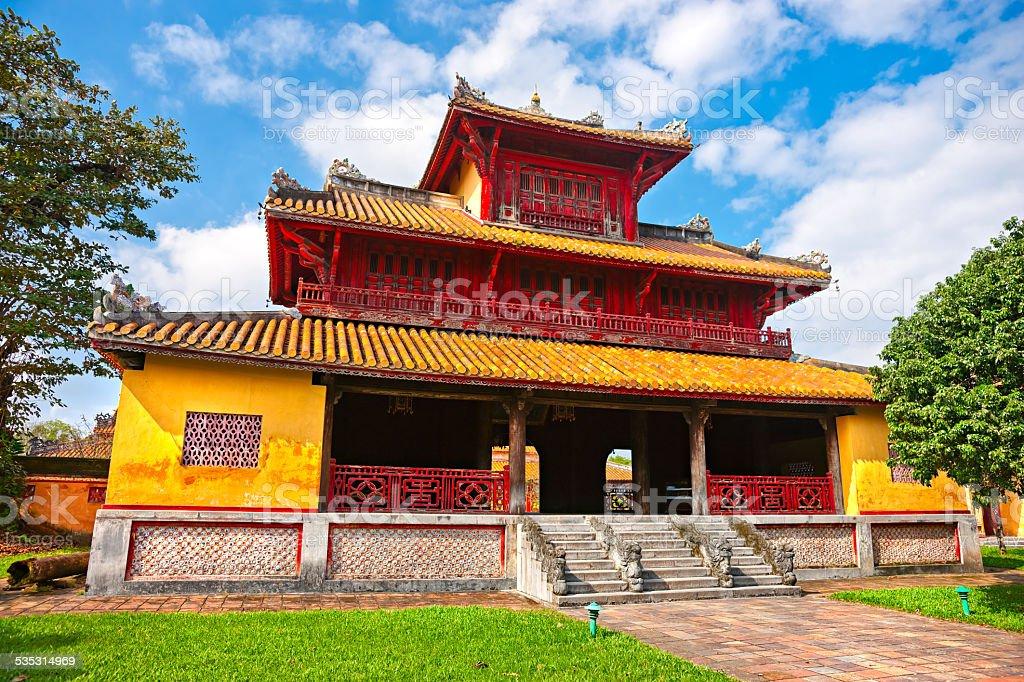 Entrance of Citadel, Hue, Vietnam. stock photo