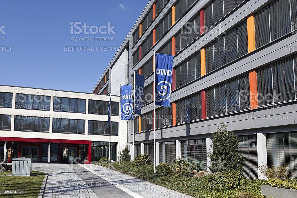 Entrance of Deutscher Wetterdienst DWD royalty-free stock photo