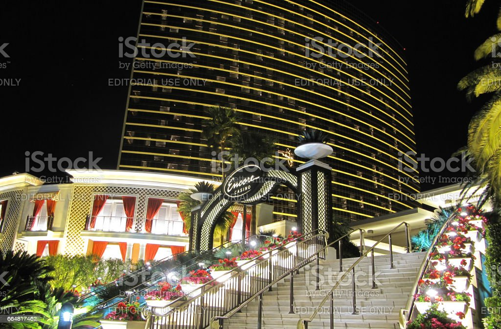 Entrance of Encore Resor Hotel in Las Vegas stock photo